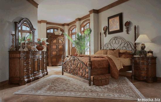 Дизайн спален с кованными кроватями