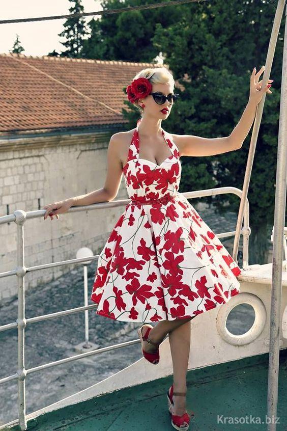 Ретро стиль платья