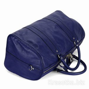 синяя сумка багаж.