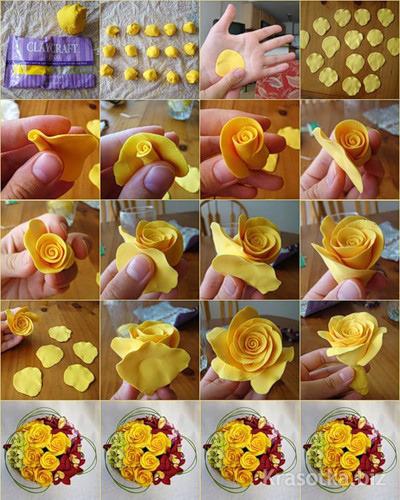 Поделки из полимерной глины своими руками розу 95