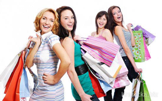 women and shopping