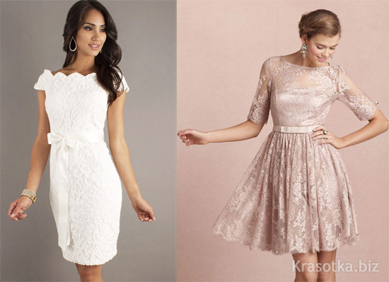 a7a3d71b3e8 Короткие вечерние кружевные платья