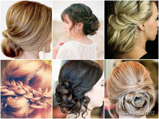 Свадебные прически на мелированных волосах фото