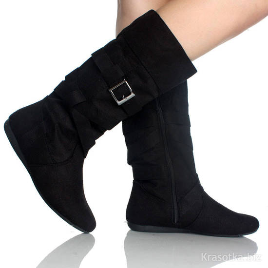 сапоги зимние женские без каблука
