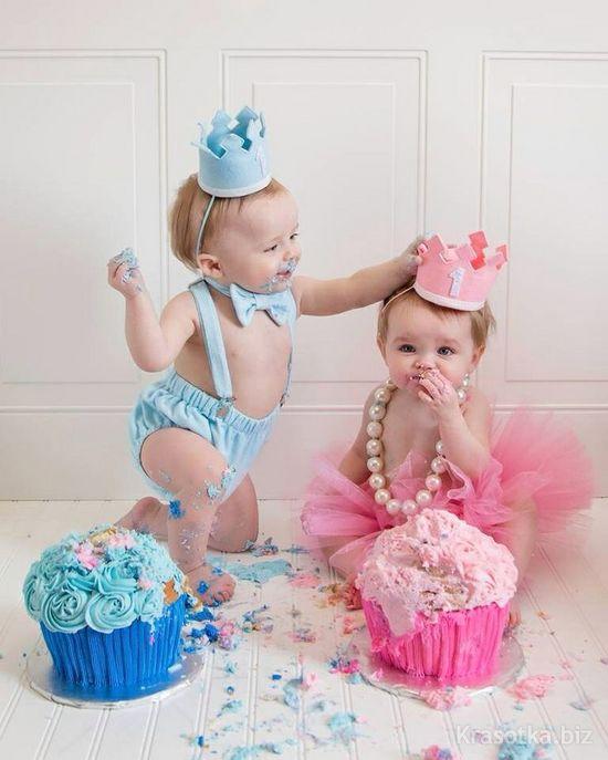 Поздравления с днем рождения двойняшек девочка и мальчик 4 года