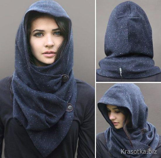 Снуд своими руками из шарфа